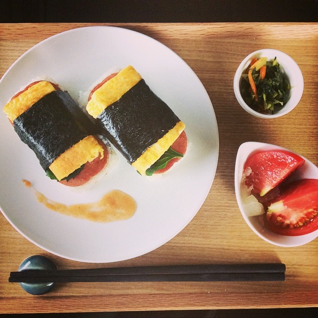 how to make spam musubi with egg