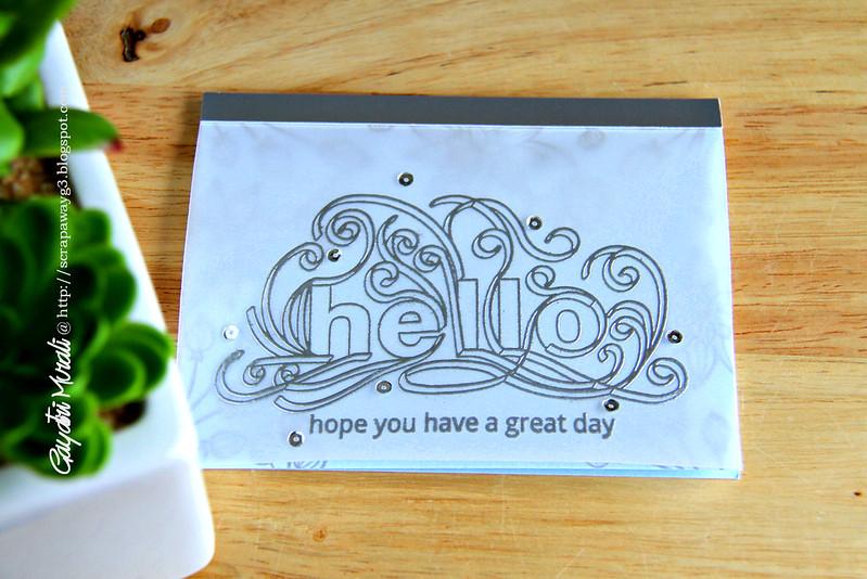 Hello card flat
