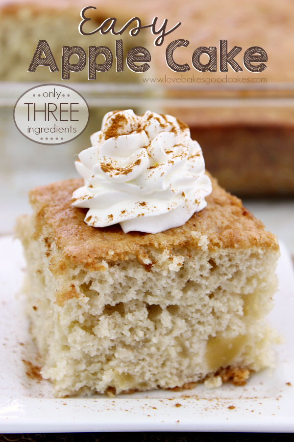 Easy Apple Cake on a plate.