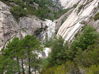 Les vasques de la Purcaraccia : la 2ème cascade de 40m