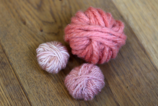 Yarn Naturally Dyed with Brazilwood