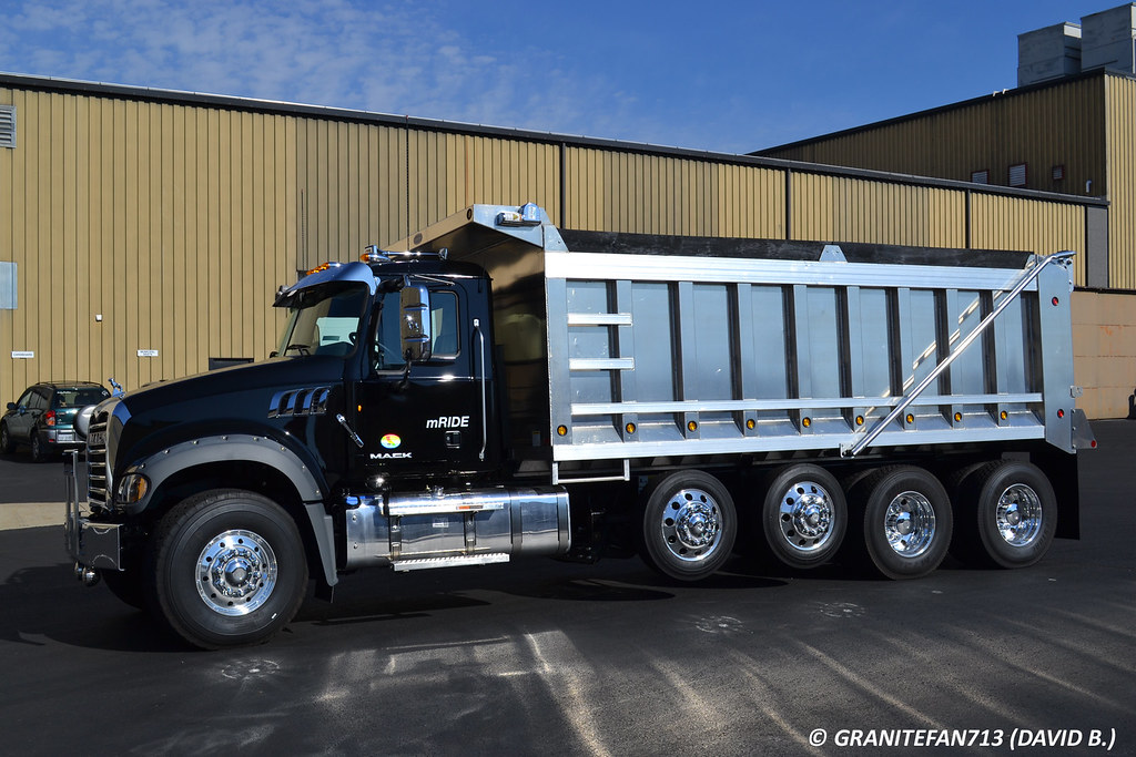 2 Axle Truck : Mack gu quad axle dump truck trucks buses