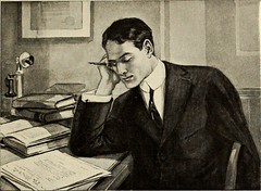 Man thinking at a desk
