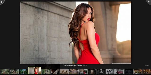 фото красивые девушки в красном