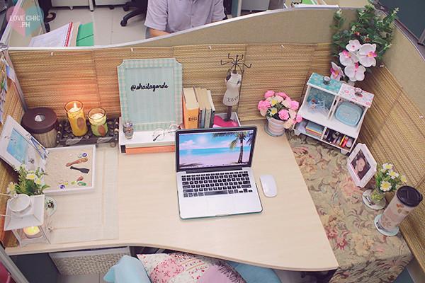 Shai lagarde love chic style blogger cubicle decor beach i Chic office decor