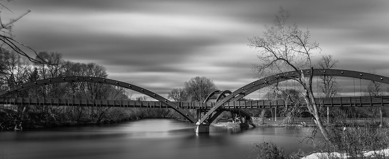 Midland Michigan's Famous Tridge, or Triple Bridge