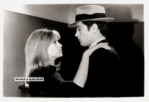 Nathalie and Alain Delon in Le Samouraï