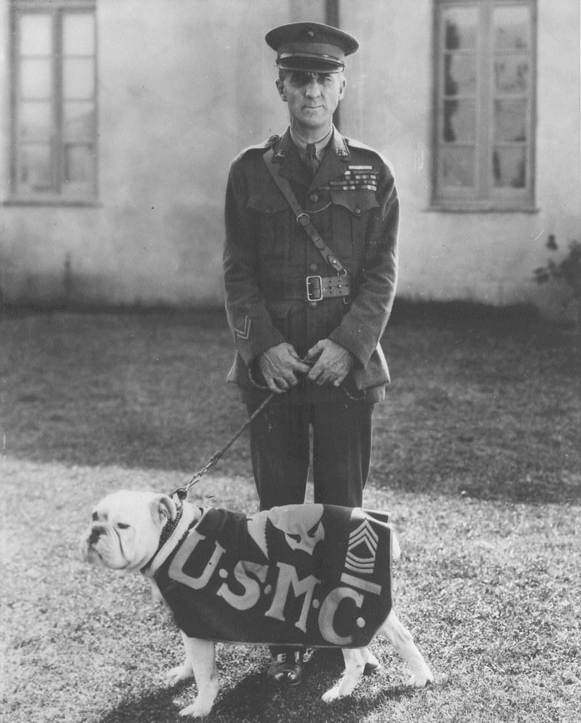 Smedley D. Butler with Jiggs, circa 1926