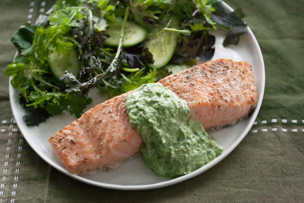 Cedar Planked Salmon with Sorrel Sauce | Isabelle Boucher | Flickr