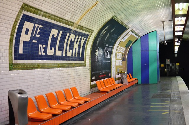 porte de clichy metro porte de clichy metro station flickr photo