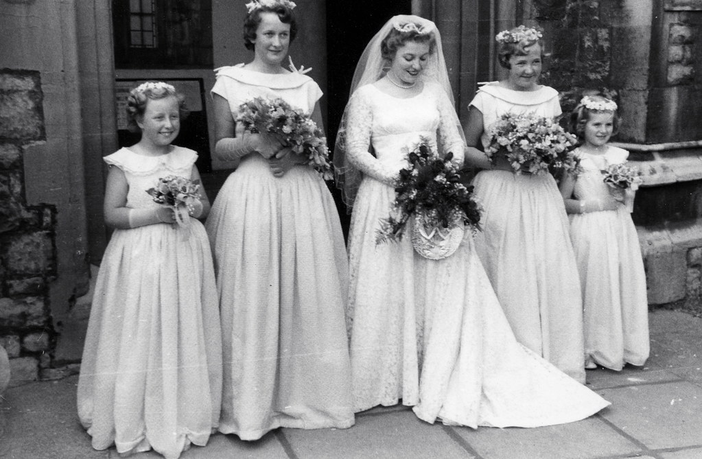 50s Bride And Bridesmaids