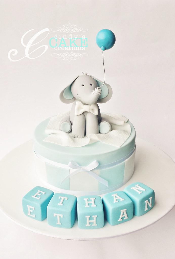 Baby Shower Cake Ideas Elephant