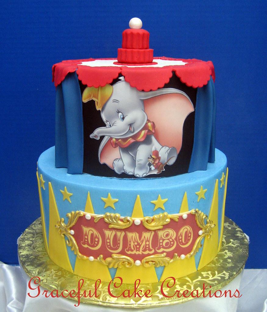 Disneyu0027s Dumbo Themed Baby Shower Cake | Grace Tari | Flickr