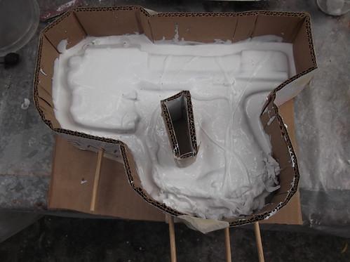 Colocando silicona