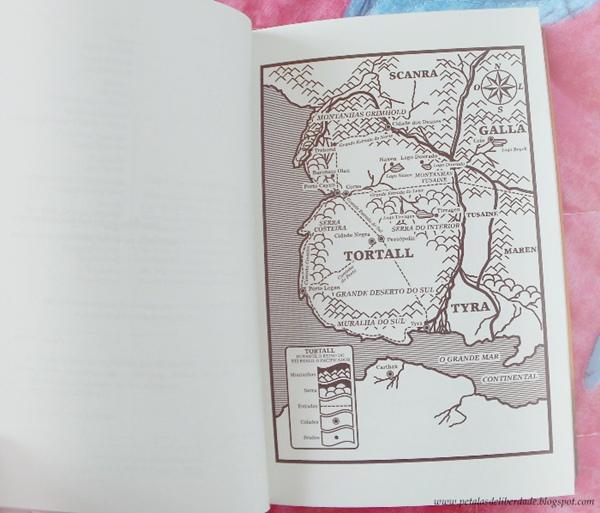 Mapa - livro A canção de Alanna, Tamora Pierce