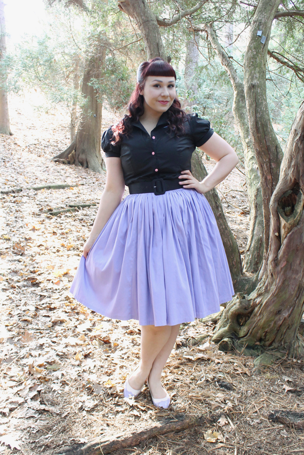 pinup girl clothing lavender jenny dress