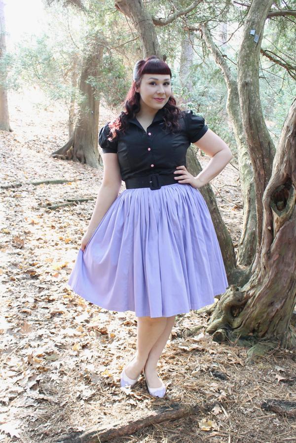 pinup girl clothing lavender jenny dress