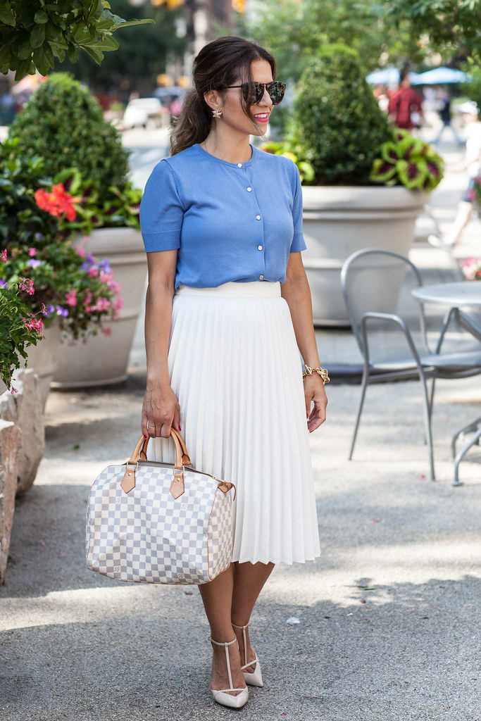 skirt what to wear to work white pleated skirt spring looks for work