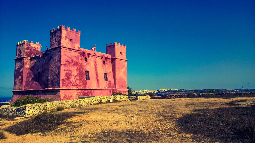 St Agatha S Tower The Red Tower Mellieha Malta Flickr