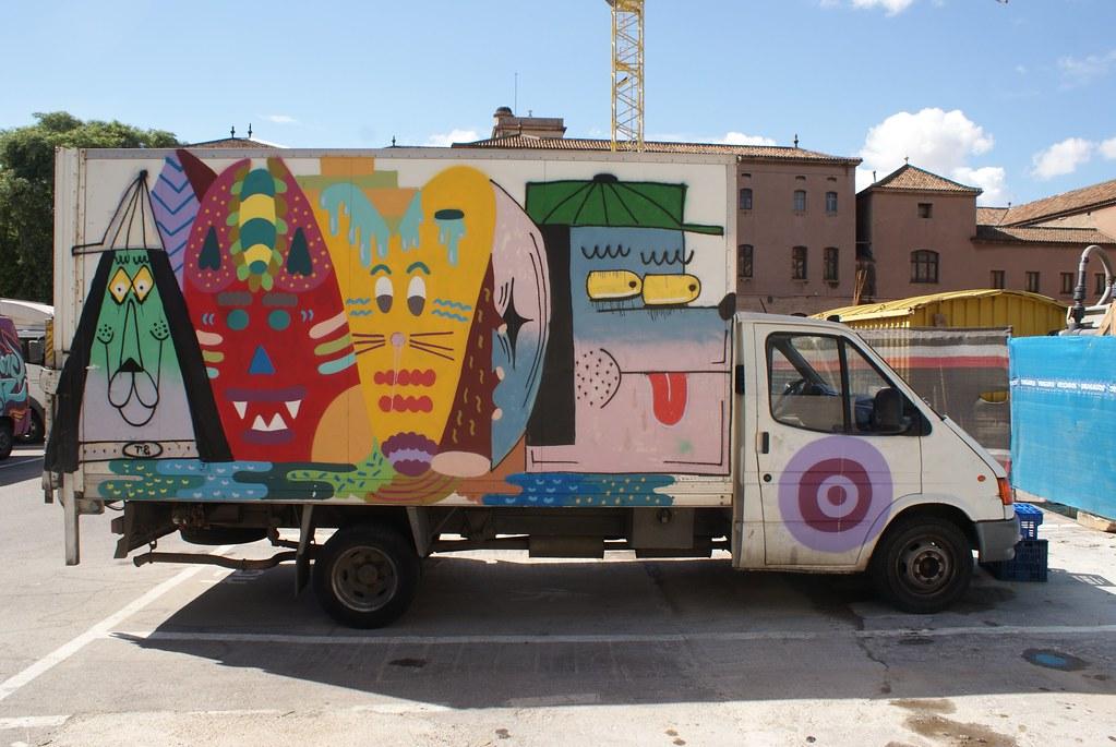 Camion de la Boqueria avec d'autres animaux rigolos.