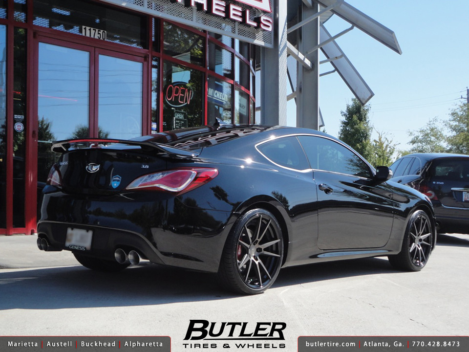 hyundai genesis coupe with 20in niche grand prix wheels. Black Bedroom Furniture Sets. Home Design Ideas