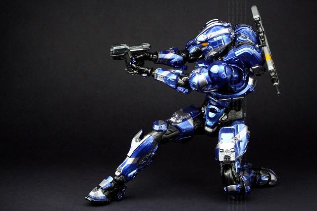 halo 4 spartan warrior blue flickr photo sharing