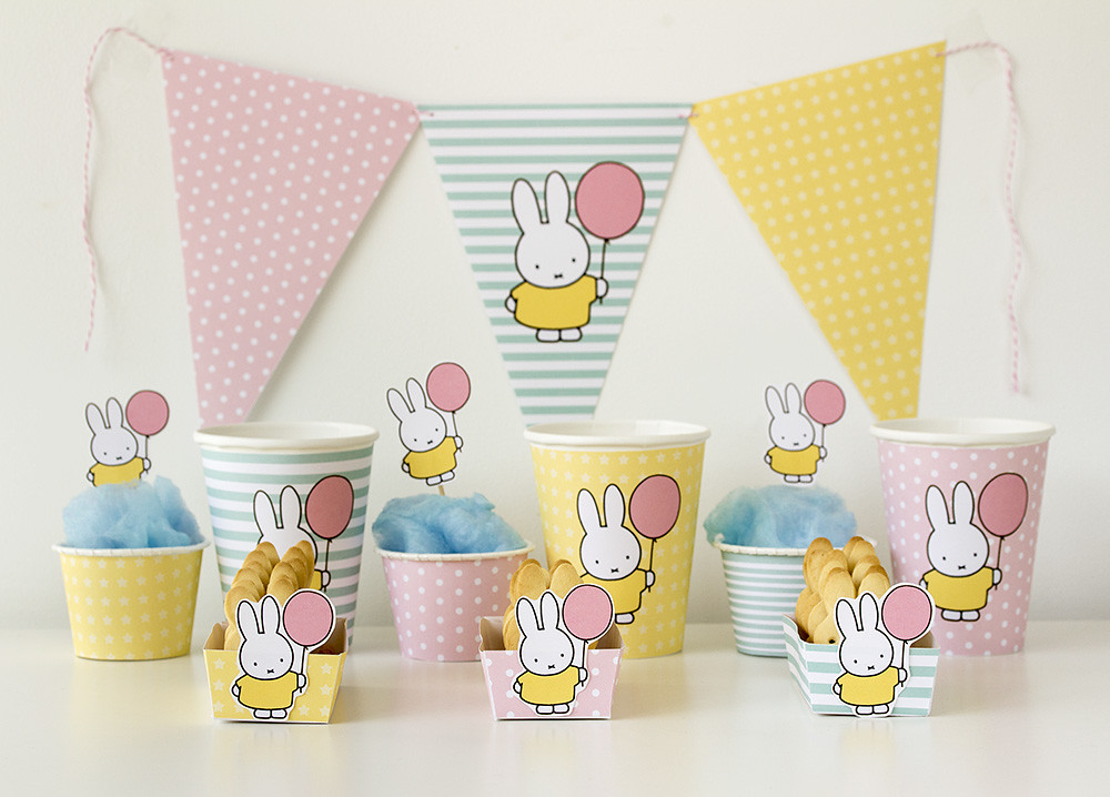 Kit de fiesta gratuito Miffy