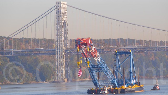 Overhead Crane New Jersey : The i lift ny super crane at george washington bridge