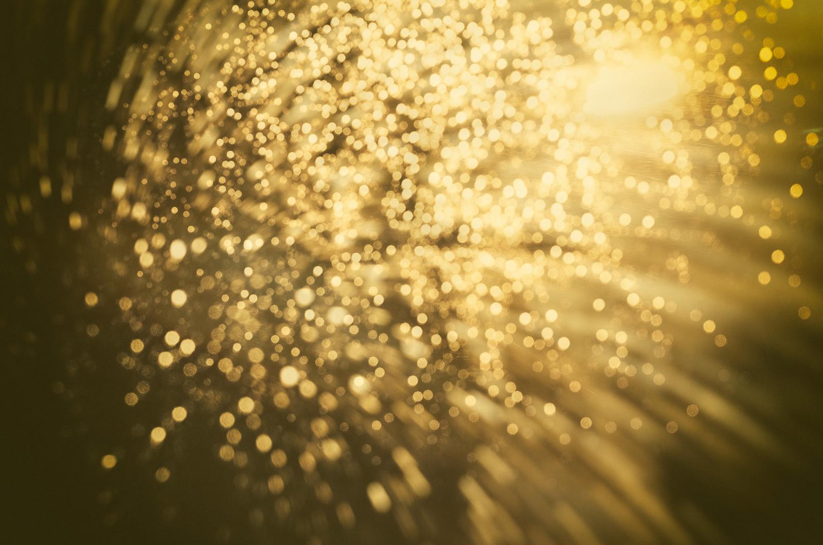 Raindrops shining