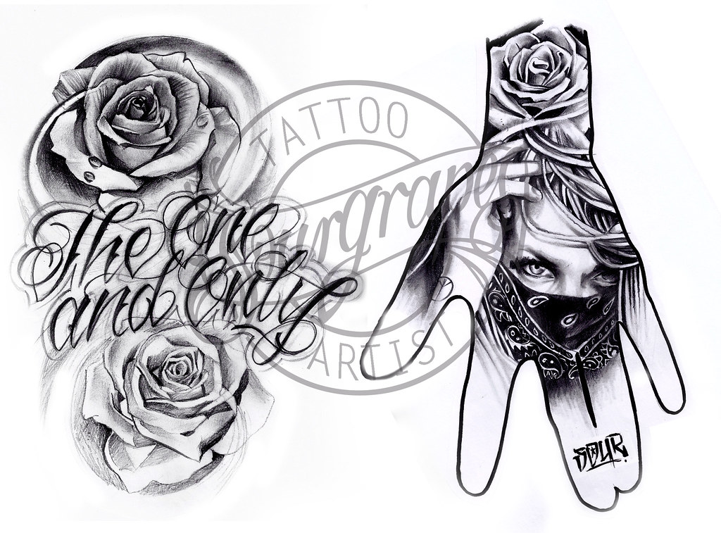 Flash18 chicano hand tattoo design 4 all artwork is for Chicano tattoo ideas