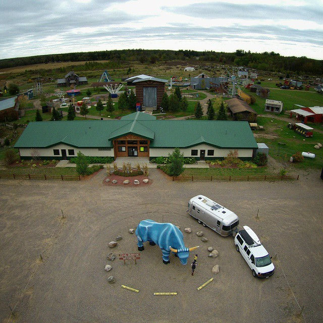 A week from now, Paul Bunyan Land will turn into Hidden Hallows, central Minnesota's largest haunted attraction.  @exploreminnesota #onlyinmn #airstream #roadsideamerica