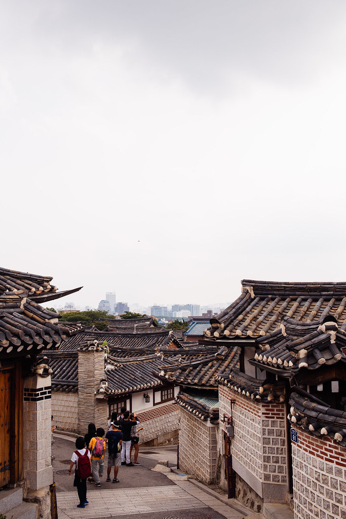 Seoul Bukchon Or Bukchon Hanok Village Is A