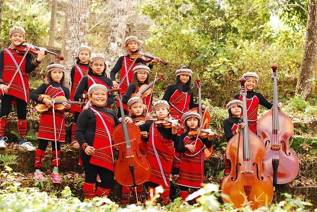 親愛國小弦樂團。圖片來源: 南投林區管理處