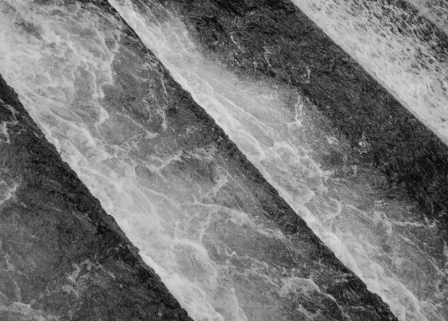 water rushing over gradient