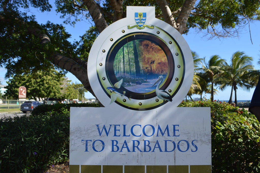 Welcome To Barbados Sign In The Port Of Bridgetown Flickr