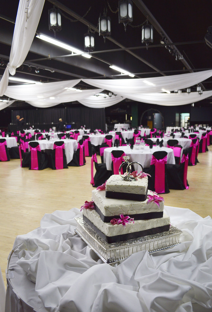 Hot Pink Wedding Cake Toppers
