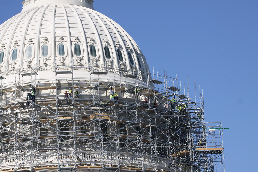 Capitol Building Scaffolding : U s capitol building scaffolding washington d c flickr
