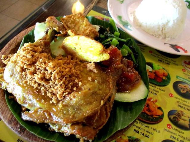 Ayam Penyet Ria ayam penyet with rice 2