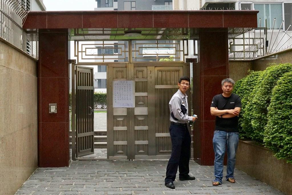 蘇廷弘在工會離開現場後,才出面批評工會。(攝影:王顥中)