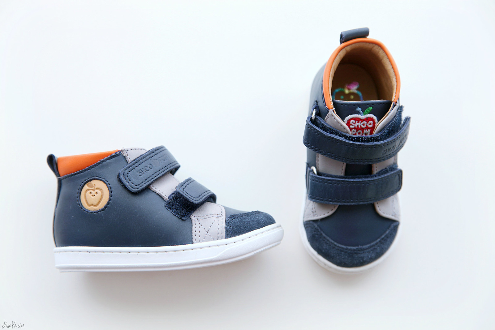 Shoo Pom baby boy first step shoes bouba new scratch ss17 spring summer 2017 french brand hook and loop fasteners blue navy velcro real leather