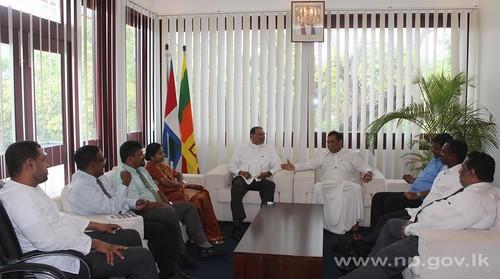 Fisheries Minister Rajitha Senaratne calls on Governor – 01 October 2014