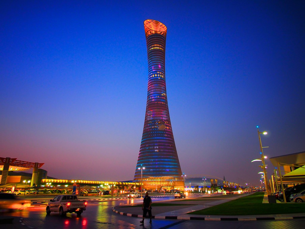 torch lighting up doha the tallest hotel in qatar with led lights for centerpieces christmas centerpiece with led lights