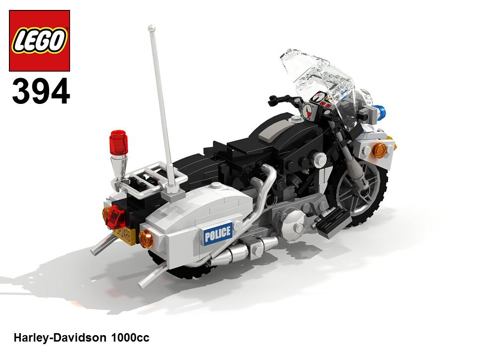 lego hobby set 394 harley davidson 1000cc as a warm up. Black Bedroom Furniture Sets. Home Design Ideas
