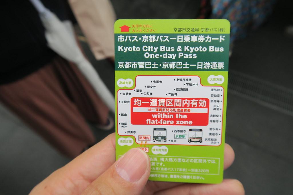 有了這張京都巴士一日乘車券,就搞定京都的交通囉!
