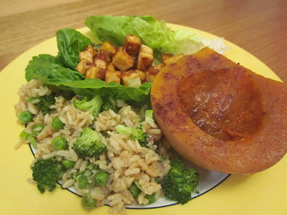 Unfried Fried Rice; Five-Spiced Delicata Squash; Lettuce Wraps with Hoisin-Mustard Tofu