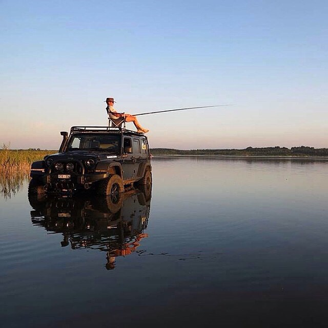 If this doesn 39 t sell you on a jeep wrangler nothing will for Pure fishing jobs