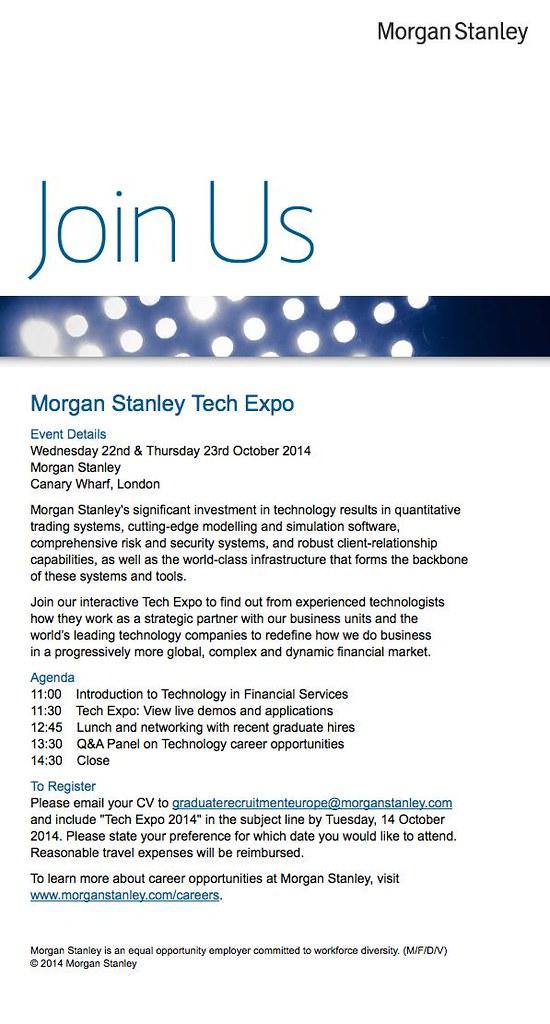 morgan-stanley-tech-expo | Computer Science Manchester | Flickr