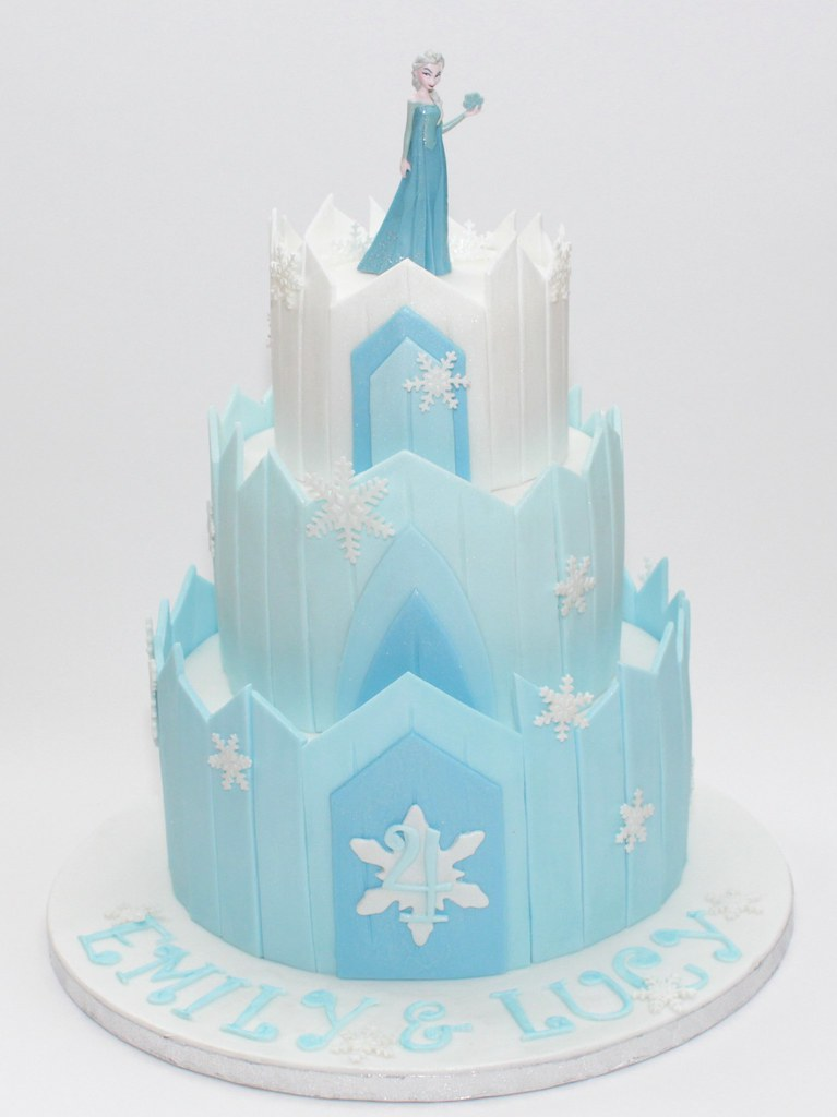 Frozen Ice Palace Cake For Frozen Fanatic Twins On Their