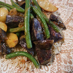 Fingerling Potatoes, Green Beans & Caramelized Shallots with Dijon-Thyme Vinaigrette
