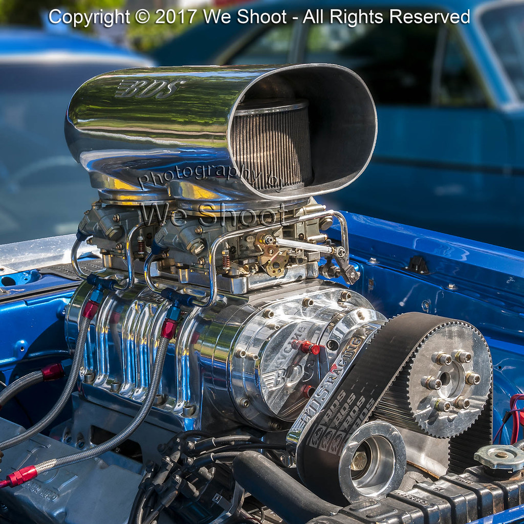 Roots Supercharger Carbs: Roots-Supercharged V8 Engine